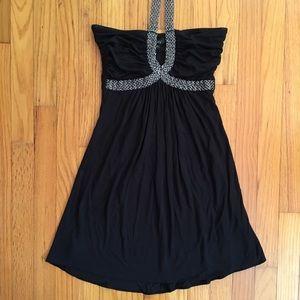 Sky Women's Black Halter Dress - Gorgeous - Small